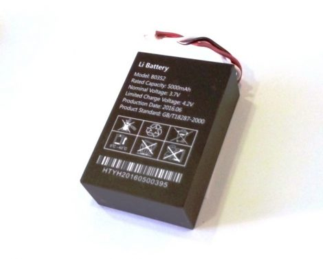 5000mA -es akkumulátor a GT03-C GPS Nyomkövetőhöz