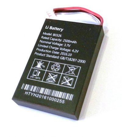 2500mA -es akkumulátor a GT03-D GPS Nyomkövetőhöz